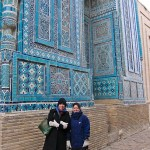 Two Happy and Frozen girls at Shah-i-Zinda!