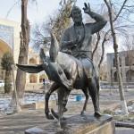 Hoja Nasruddin's Statue at Lyabi Hauz