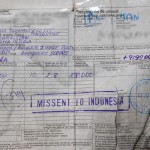 Missent to Indonesia