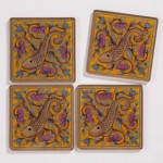 Rajasthani Reverse Glass Coasters