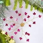 Magenta Floral Snowflake