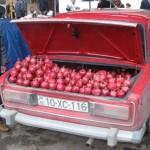 Pomegranate seller in Quba