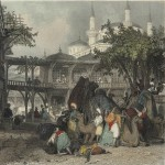 Caravanserai 19th-century engraving