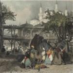 Caravanserai 19th-century engraving