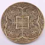 Bukhara Diamond Brass Platter