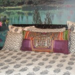 Pakistani Tribal Kurta Cushion, Arastan at Good Earth