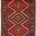 Kazak Polychromatic Latch Hook Carpet