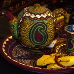 Azerbaijani Embroidered Teaset