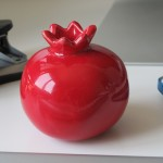A pomegranate trinket on my desk