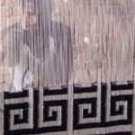 Dhurrie Weaver using Vertical Loom