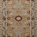 Tufted Carpet - Tan/Light Blue