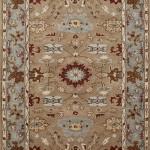 Tufted Carpet - Tan/Light Blue