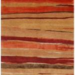 Tibetan Style Carpet - Deep Rust